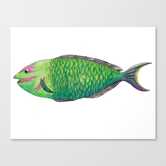 One Fish Canvas Print