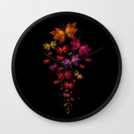 Digital Butterflies Wall Clock