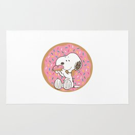 Snoopy Donuts Rug