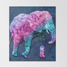 abstract elephant Throw Blanket