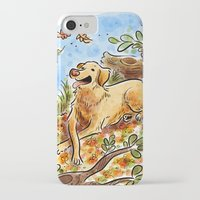 lab iPhone & iPod Cases featuring Golden Lab by Renee Kurilla