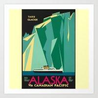 alaska Art Prints featuring Alaska by Kathleen Casey