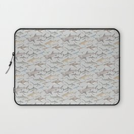 Watercolour shark pattern on pale blue Laptop Sleeve
