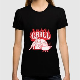 BBQ Chef Carry Gator Grill Retro T-shirt