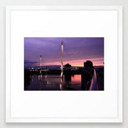 The Pedestrian Bridge at Sunset Framed Art Print