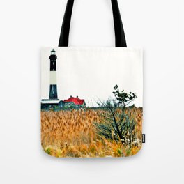 Fire Island Lighthouse HDR Photography Tote Bag