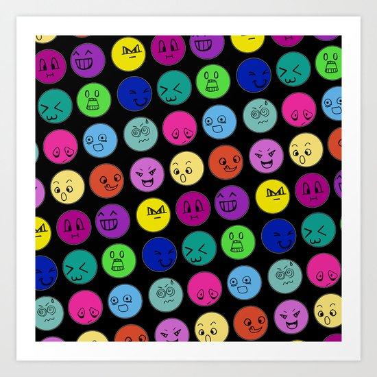 Emoticons Art Print