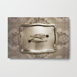 Entre peces y cerezas Metal Print