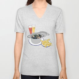 Mussels from Brussels Unisex V-Neck