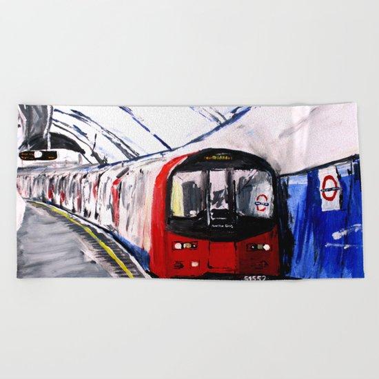 London Underground Northern Line Fine Art Beach Towel