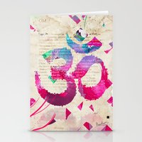 om Stationery Cards featuring OM by Pranatheory