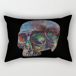 Skull Map Rectangular Pillow