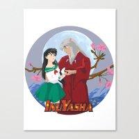 inuyasha Canvas Prints featuring Inuyasha by jbrinkleyart