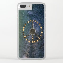 Solar Eclipse – Peace on Earth Clear iPhone Case