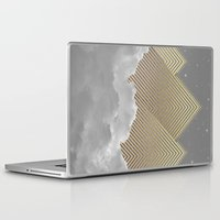 kerouac Laptop & iPad Skins featuring Silence is the Golden Mountain (Stay Gold) by soaring anchor designs