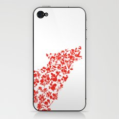 Wolf blooming iPhone & iPod Skin