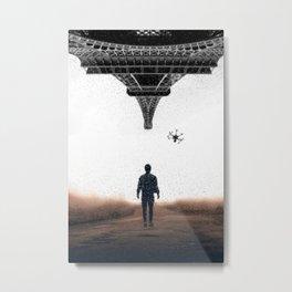 Bringing my drone to Paris by GEN Z Metal Print