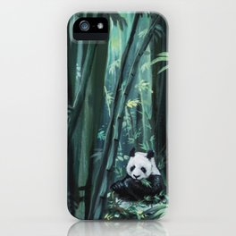 Panda in the Bamboo Forest iPhone Case