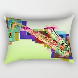 Sounds of music. Saxophone. Rectangular Pillow