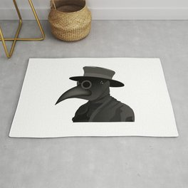 Medieval Plague Doctor Rug