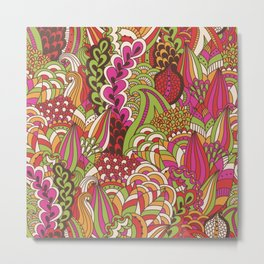 Paisly Pop Tangle #4 Metal Print