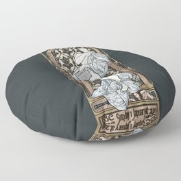 A Scandal in Belgravia - Mucha Style Floor Pillow