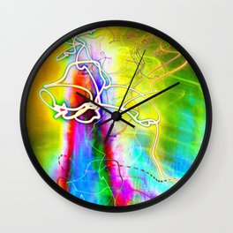 SYNESTHESIA Light Painting Experiment 113 Wall Clock