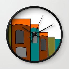Creative Reading - Zine Page Graphics Wall Clock