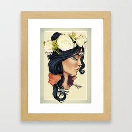 Bohemian Girl Framed Art Print