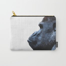 Abstract gorilla geometric. Wild animal. Modern monkey. Wildlife art illustration Carry-All Pouch