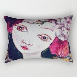 Like an angel passing through my room Rectangular Pillow