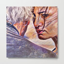 Tango Abrazo - It Is About the Connection Metal Print