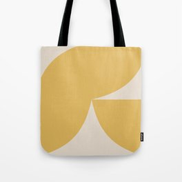 Curvature Minimalism II - Vibrant Yellow Tote Bag