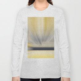 Charcoal Grey Yellow Abstract Long Sleeve T-shirt