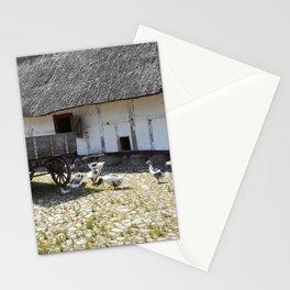 Odense Denmark Print   Old Danish Village Print   Farm Yard Art Print Stationery Cards