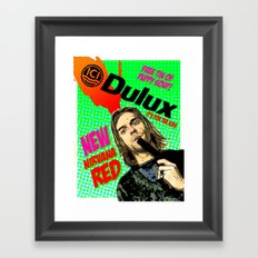 Nirvana Red Framed Art Print