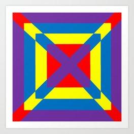 Colorful Square Art Print