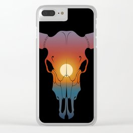 Sunset Bull Clear iPhone Case
