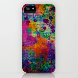 colorful canvas i iPhone Case