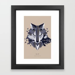 Sif the Great Grey Wolf (without bg) Framed Art Print