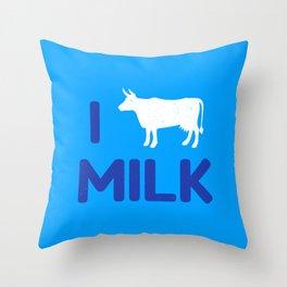 I heart Milk Throw Pillow