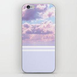 Dreamy Pastel Sky on Violet iPhone Skin
