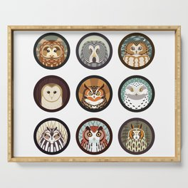 Owls of the Eastern United States Serving Tray