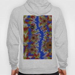 Authentic Aboriginal Art - Waterholes Corela Hoody