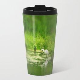 Marsh Egret 2 Travel Mug