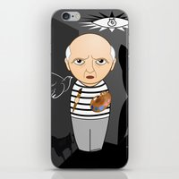 pablo picasso iPhone & iPod Skins featuring Kokeshi artist Pablo Picasso by Pendientera