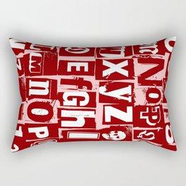 Ransom Letters Rectangular Pillow