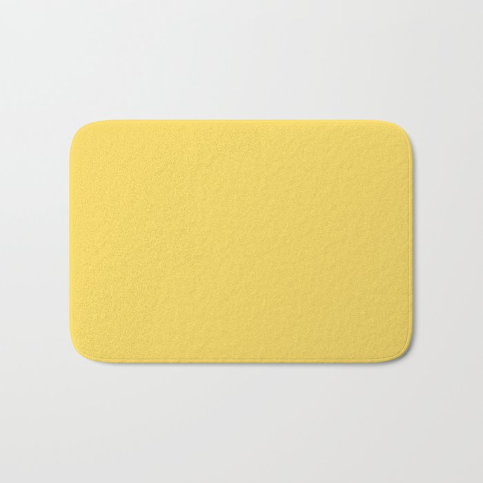 Saffron Yellow Bath Mat