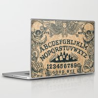 ouija Laptop & iPad Skins featuring Ouija Board by ezmaya