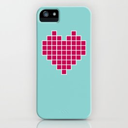 Pixelated Heart iPhone Case